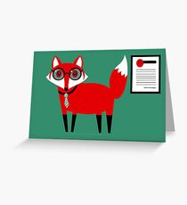 FIRST WORKING FOX  Greeting Card