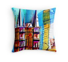 St. Paul Cathedral/ Federation Square- Melbourne Australia Throw Pillow