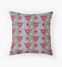 Bwire African inspired wax print pattern Throw Pillow