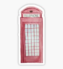 London Telephone Booth Sticker