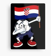Croatia Dabbing Soccer Ball Metal Print