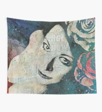 Sick On Sunday (graffiti female portrait, woman with roses) Wall Tapestry