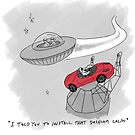 Alien dashcam Spacex Tesla by Gregor  Burns