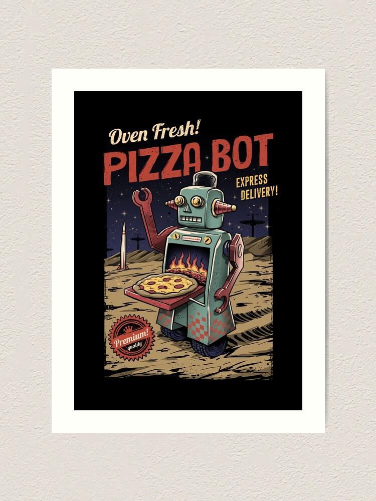 Alternate view of Pizza Bot Art Print