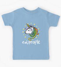 Funny Unicorn Graphic Design Kids Tee