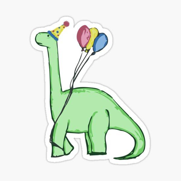 Brontosaurio de cumpleaños Pegatina