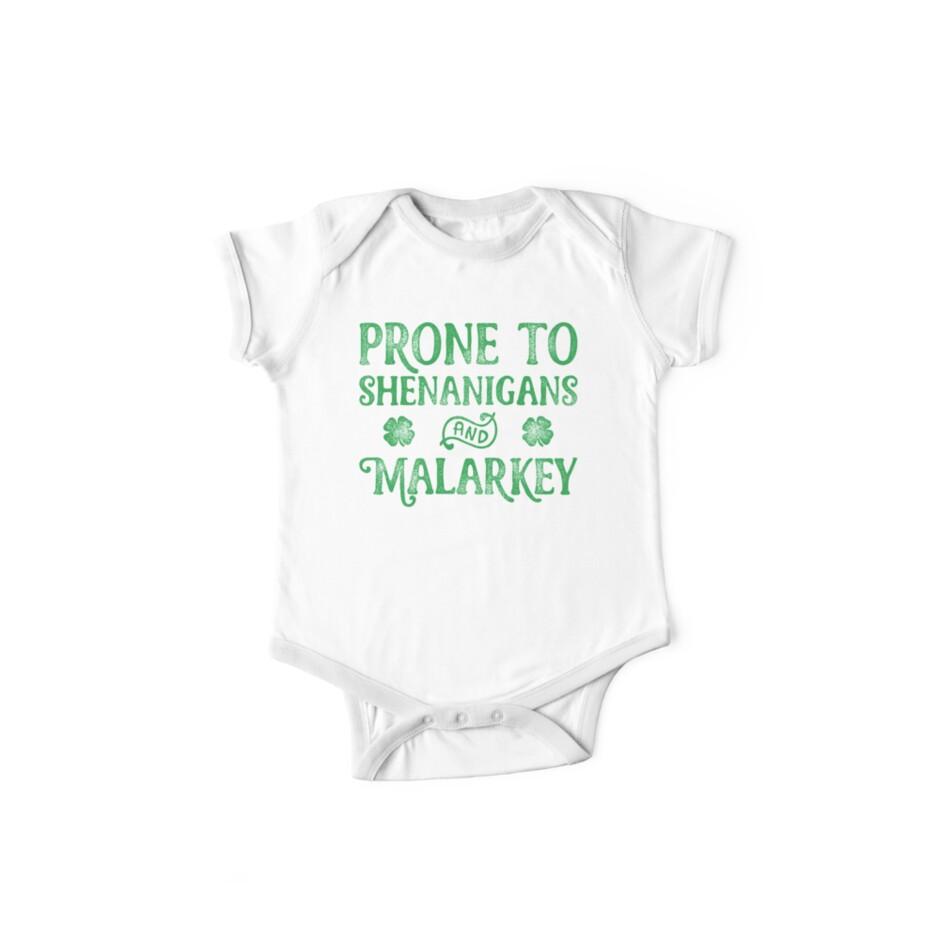 a68f7c967 Prone To Shenanigans And Malarkey T Shirt St Patricks Day