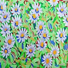 Blue Daisies by marlene veronique holdsworth