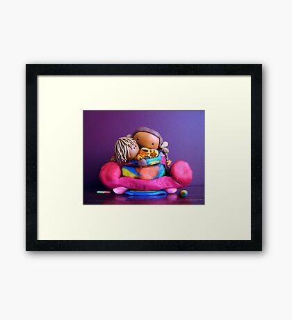CHUNKIE Mother and Girl Child Framed Print