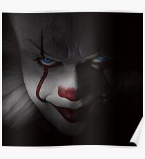 "Pennywise ""IT"" - Bill Skarsgard (Blue Eyes) Poster"
