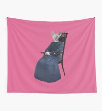 Vintage Sphynx Cat Wall Tapestry