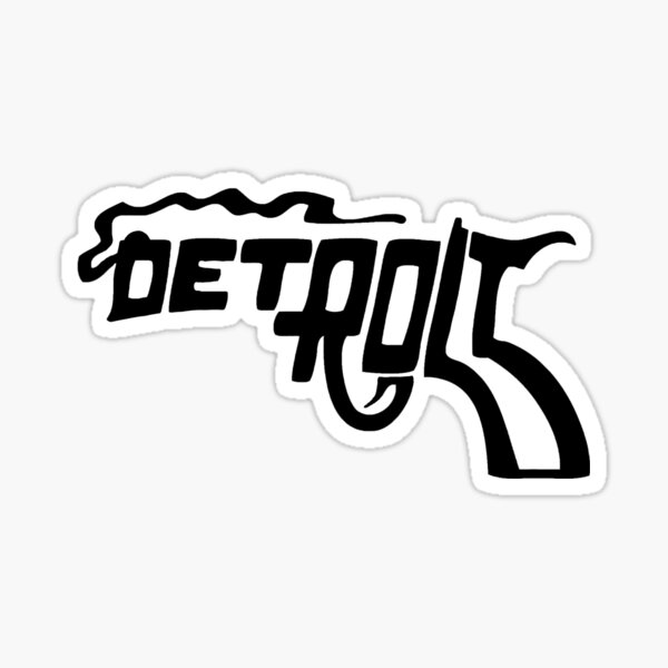 Detroit Smoking Gun Sticker