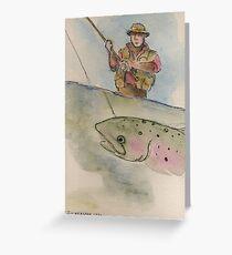 Flyfishing: The Battle Greeting Card