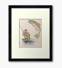 Flyfishing: Good Catch Framed Print