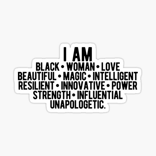 Soy una mujer negra | Mujer fuerte | afroamericano Pegatina