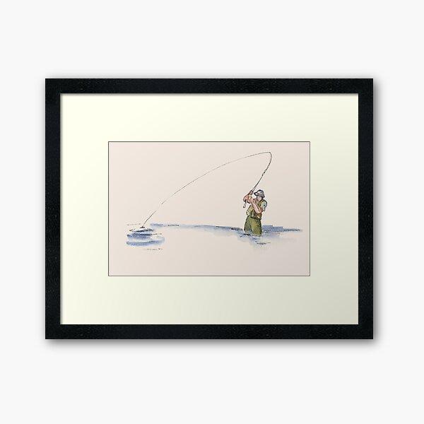 Flyfisherman Framed Art Print