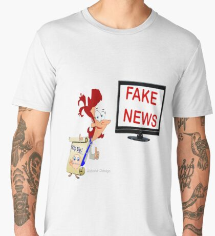 Fun cartoon Sticker & roses  Men's Premium T-Shirt