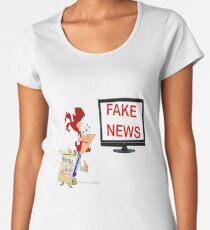 Fun cartoon Sticker & roses  Women's Premium T-Shirt