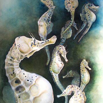 Potbellied Seahorses by salamandaz