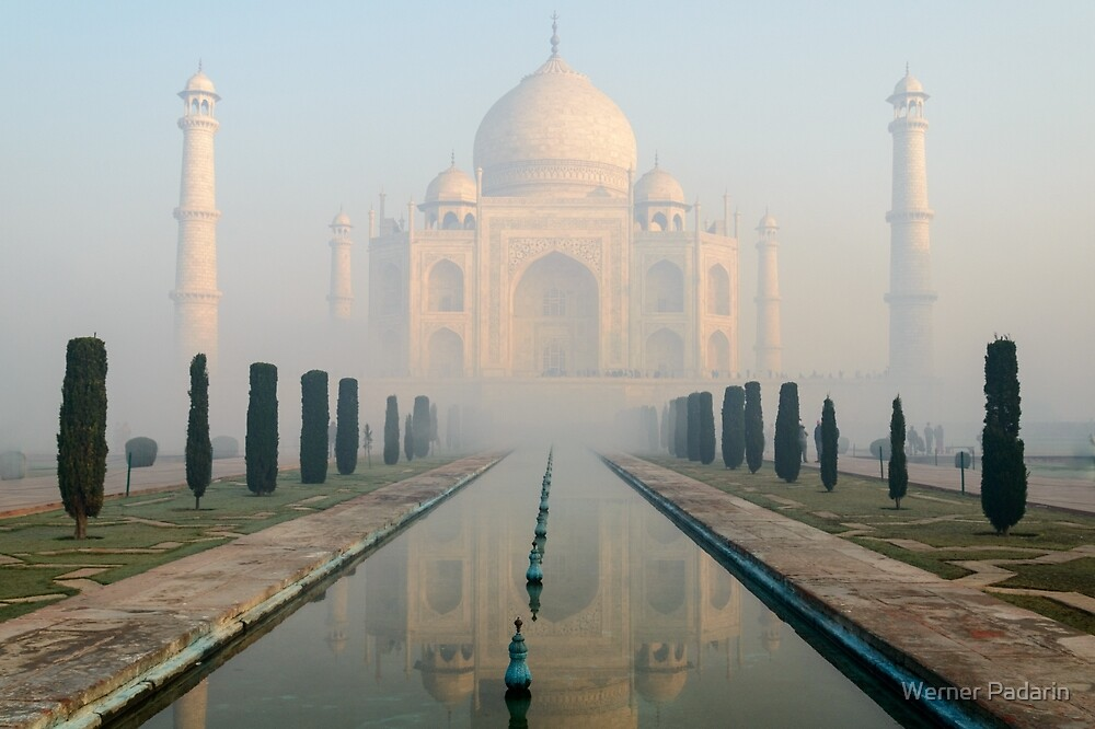 Taj Mahal at Sunrise 02 by Werner Padarin