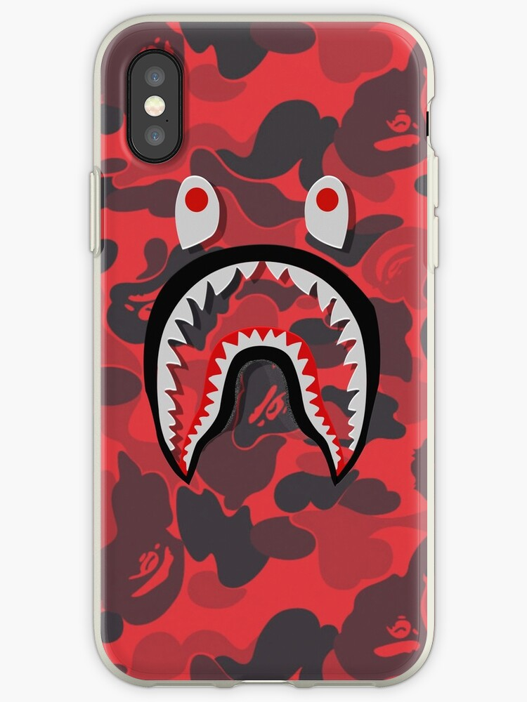 online store fa39d 60fd2 'red bape shark' iPhone Case by TerrykSanders