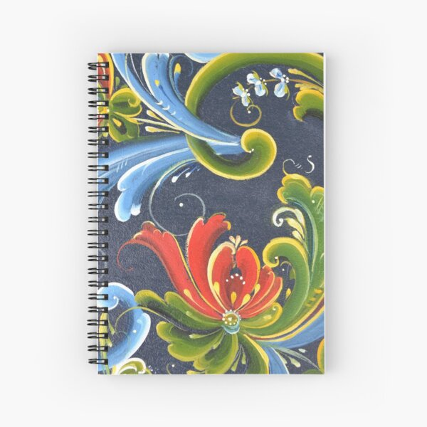 Telemark Rosemaling from Norway Spiral Notebook