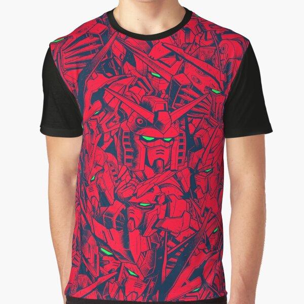 Gundam Camo Magenta Graphic T-Shirt