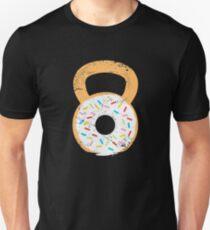 Kettlebell Donut, Funny Doughnut Fitness and Gym Joke T-Shirt Unisex T-Shirt
