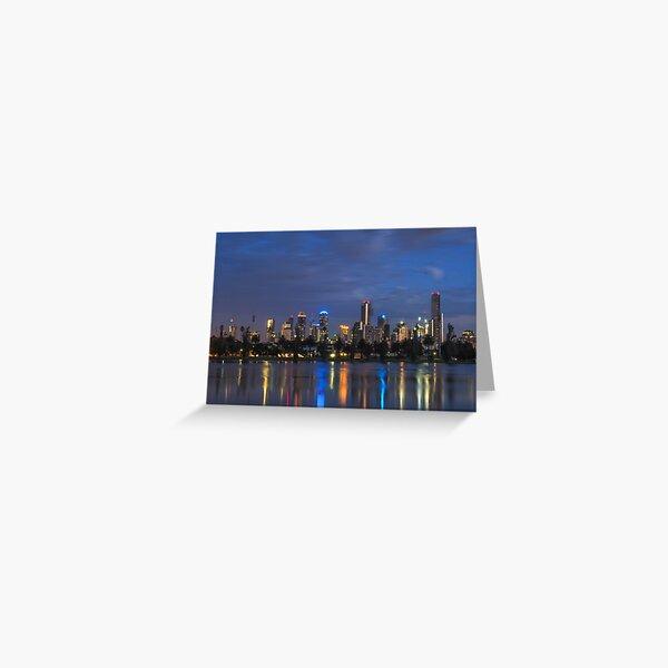 MELBOURNE DAWN AT ALBERT PARK LAKE Greeting Card