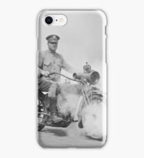 Motorcycle Policeman on Duty, 1923 iPhone Case/Skin