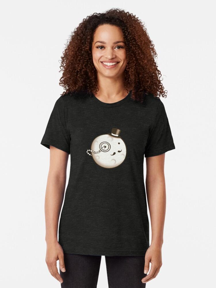 Alternate view of Dapper Moon Tri-blend T-Shirt