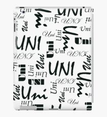 Uni (Black Writing) iPad Case/Skin