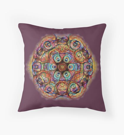 #DeepDreamed Amulet Throw Pillow