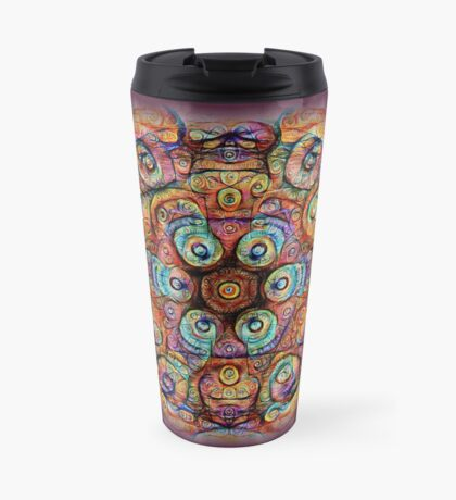 #DeepDreamed Amulet Travel Mug