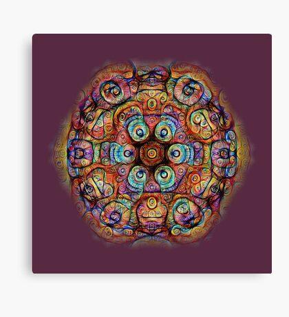 #DeepDreamed Amulet Canvas Print