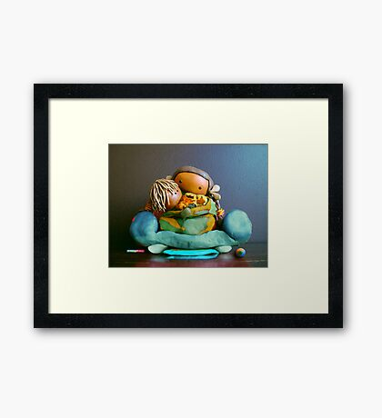 CHUNKIE Mother and Boy Child Framed Print