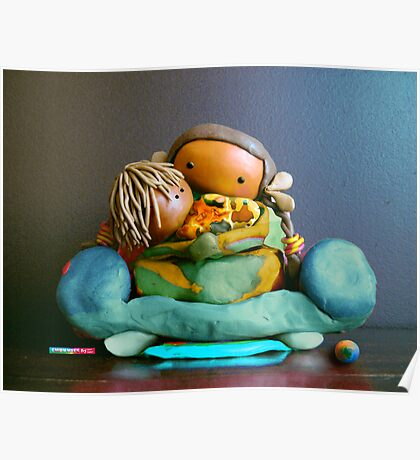 CHUNKIE Mother and Boy Child Poster