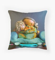 CHUNKIE Mother and Boy Child Throw Pillow