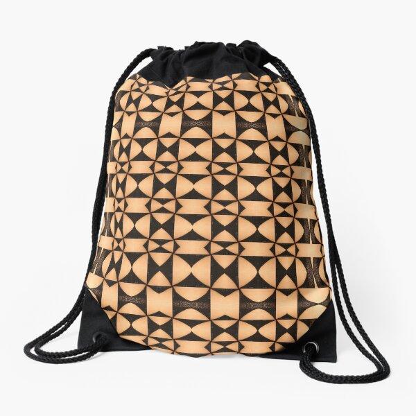 marking, ornament, ornamentation, pattern, drawing, figure, picture, illustration Drawstring Bag