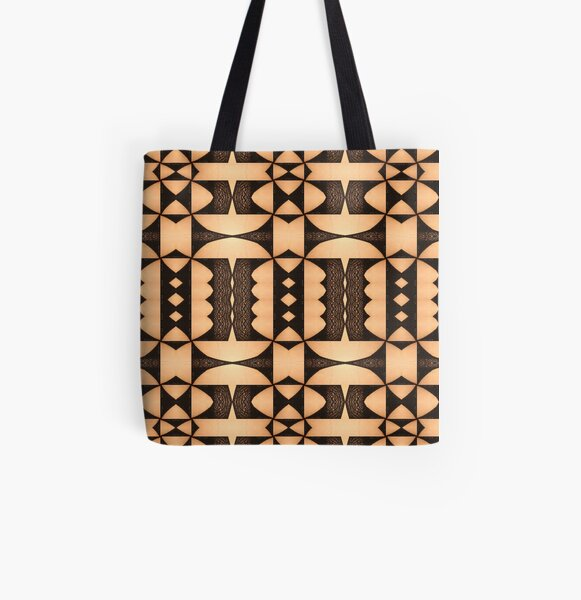 marking, ornament, ornamentation, pattern, drawing, figure, picture, illustration All Over Print Tote Bag