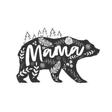 Mama Bear Floral by nameonshirt