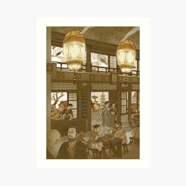 The Heavenly Lotus Tea House Art Print