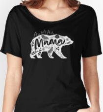 Mama Bear Floral Relaxed Fit T-Shirt