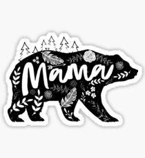 Pegatina Mama Bear Floral