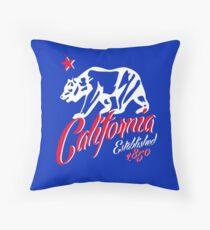 MAD THREDZ, CALIFORNIA  BEAR EST. 1850 LOGO Floor Pillow