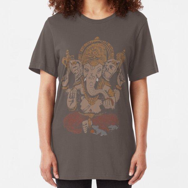 Ganesha 3D Slim Fit T-Shirt