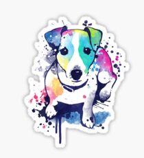 Watercolor Jack russell terrier Sticker