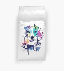 Watercolor Jack russell terrier Duvet Cover