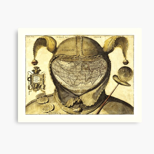 Fool's Cap Map Of The World  Canvas Print
