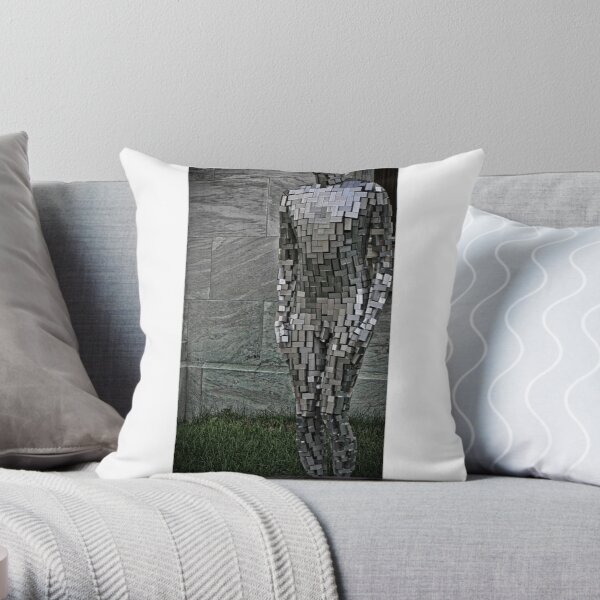 Staue in Montreal Throw Pillow